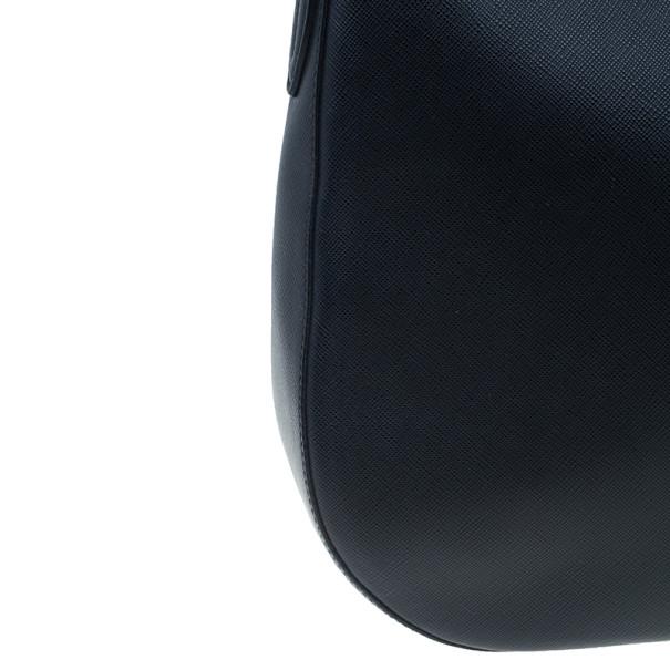 Prada Black Saffiano Cervo Hobo