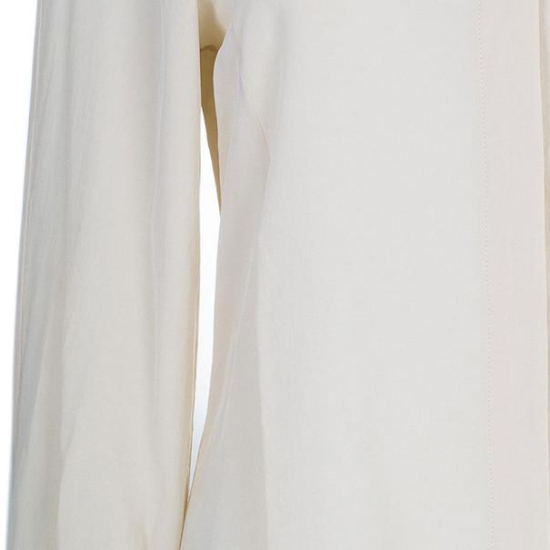 Fendi Beige Silk Collared Top M