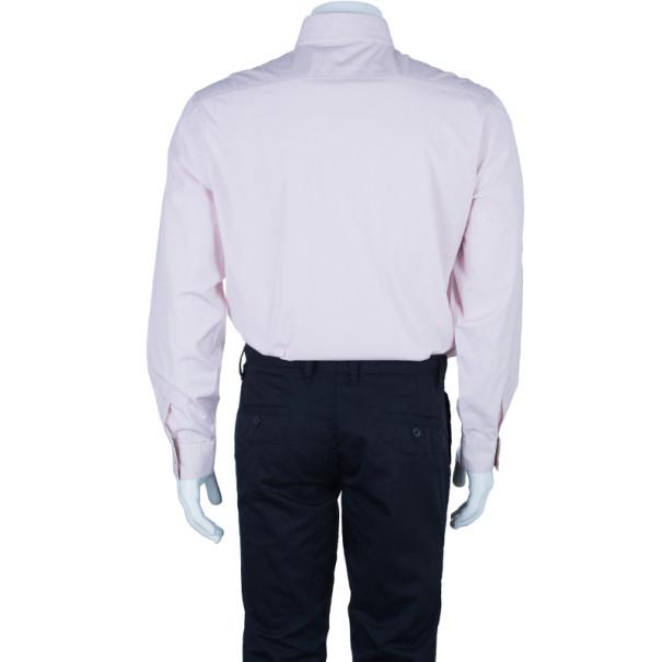 Burberry Brit Light Pink Classic Fit Stretch Cotton Men's Shirt XL