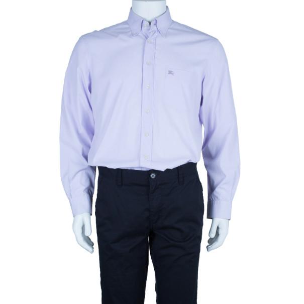 Burberry Brit Light Blue Classic Stretch Cotton Men's Shirt XL