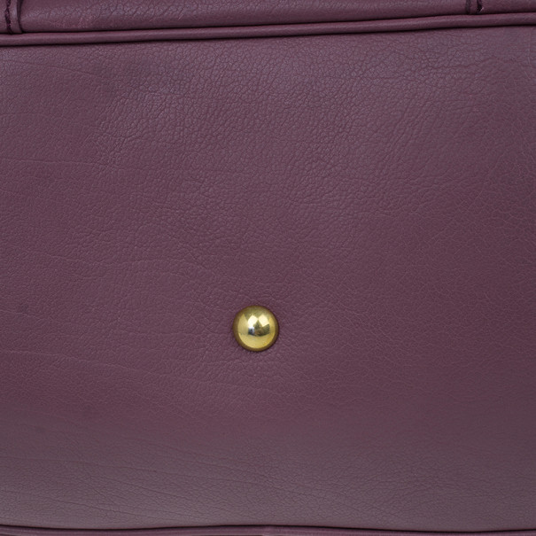 Saint Laurent Paris Purple Leather Large Muse Bag