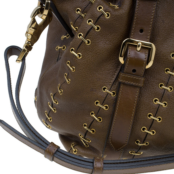 Burberry Brown Leather Satchel