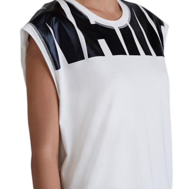 "3.1 Phillip Lim White ""Name Drop"" Logo Muscle Tee L"