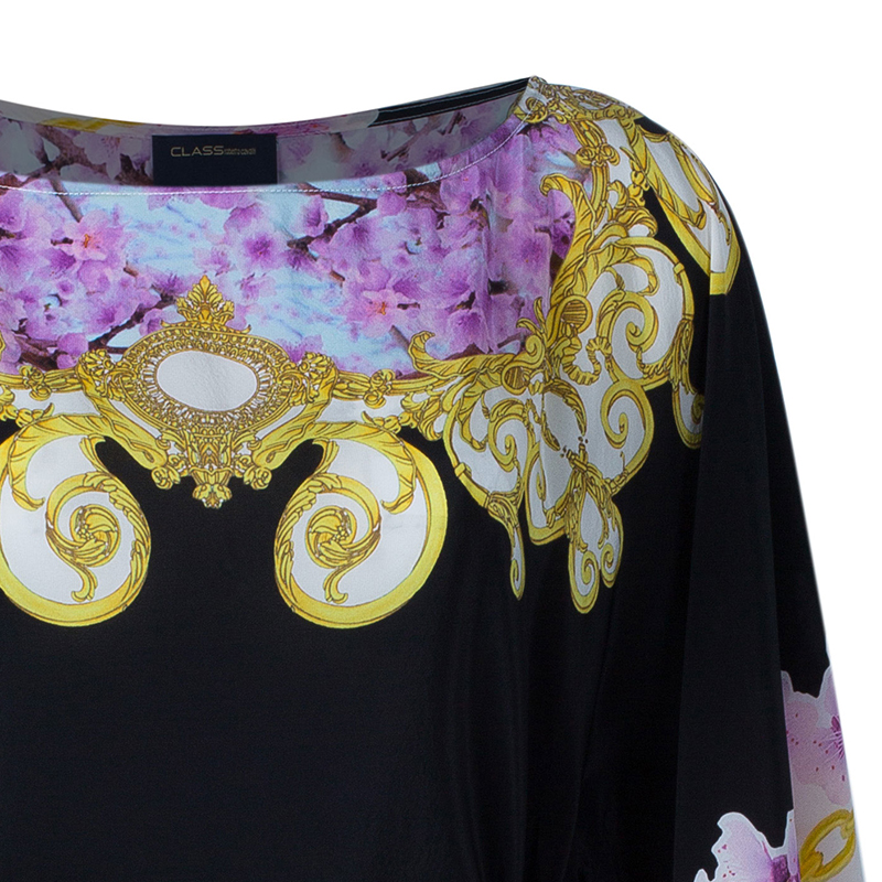 Class by Roberto Cavalli Multicolor Printed Butterfly Top M