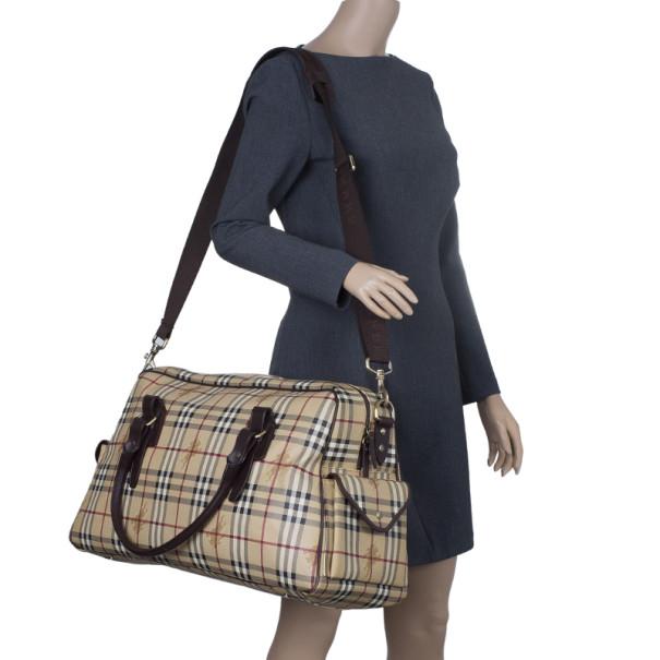 Burberry Haymarket Coated Canvas Luggage Bag