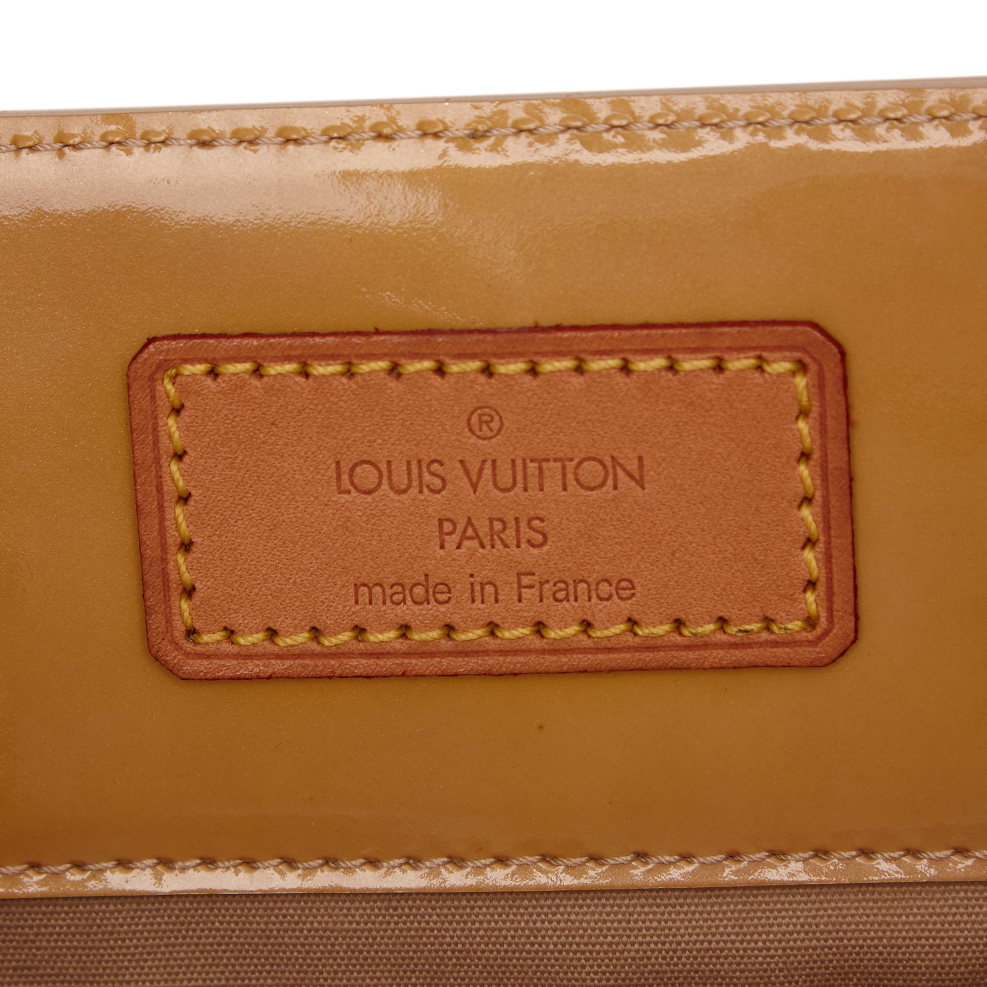 Louis Vuitton Yellow Vernis Leather Reade MM