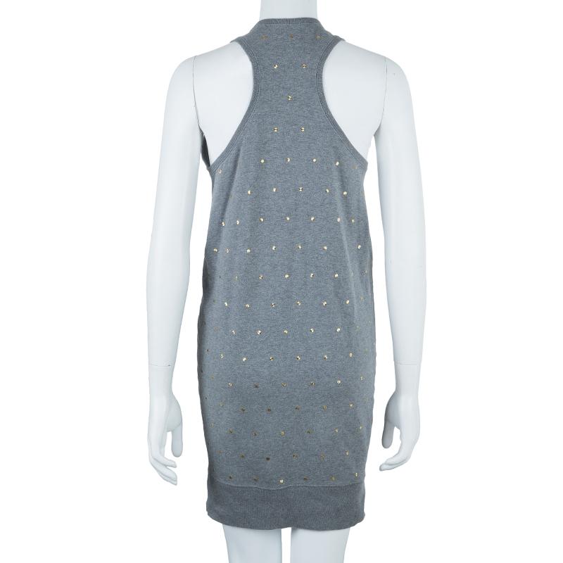 Stella McCartney Gray Cotton Sleeveless Dress XS