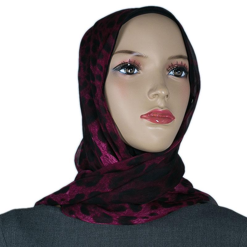 Dolce and Gabbana Purple Leopard Print Hijab
