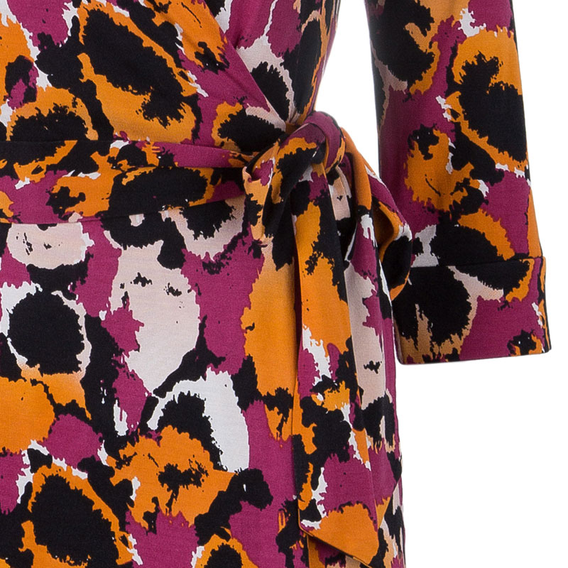 Diane Von Furstenberg Multicolor New Julian Two Wrap Dress S