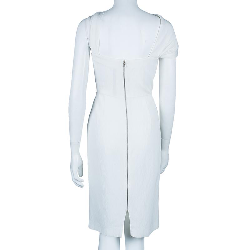 RM by Roland Mouret White Asymmetric Dress M