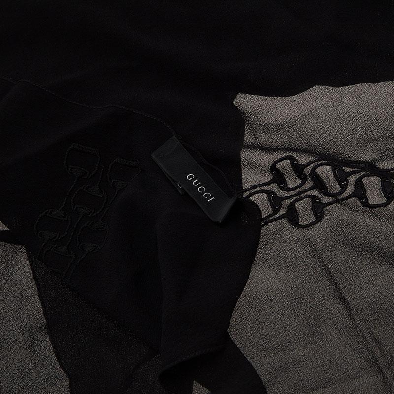Gucci Black Silk Stole