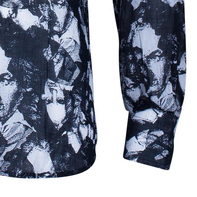 Fendi Men's Black Printed Shirt M