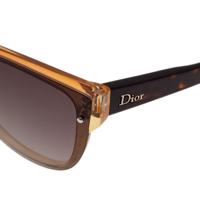 Dior Brown Glisten 1 Cat Eye Sunglasses