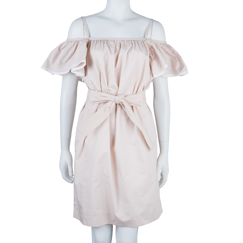 Chloe Pink Butterfly Sleeve Dress S