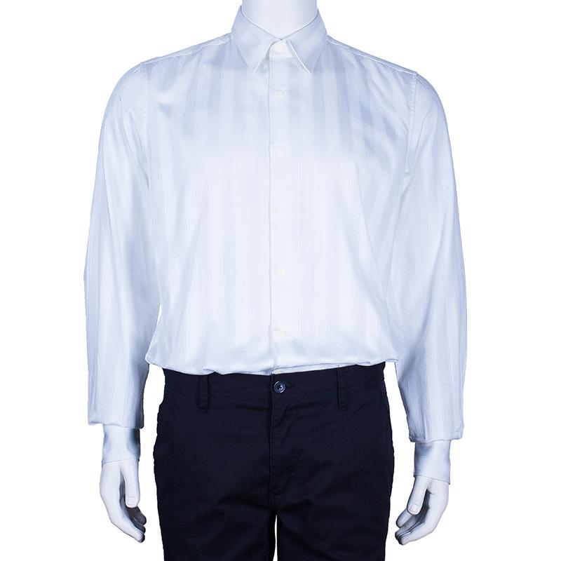 Fendi Men's White Cotton Shirt M