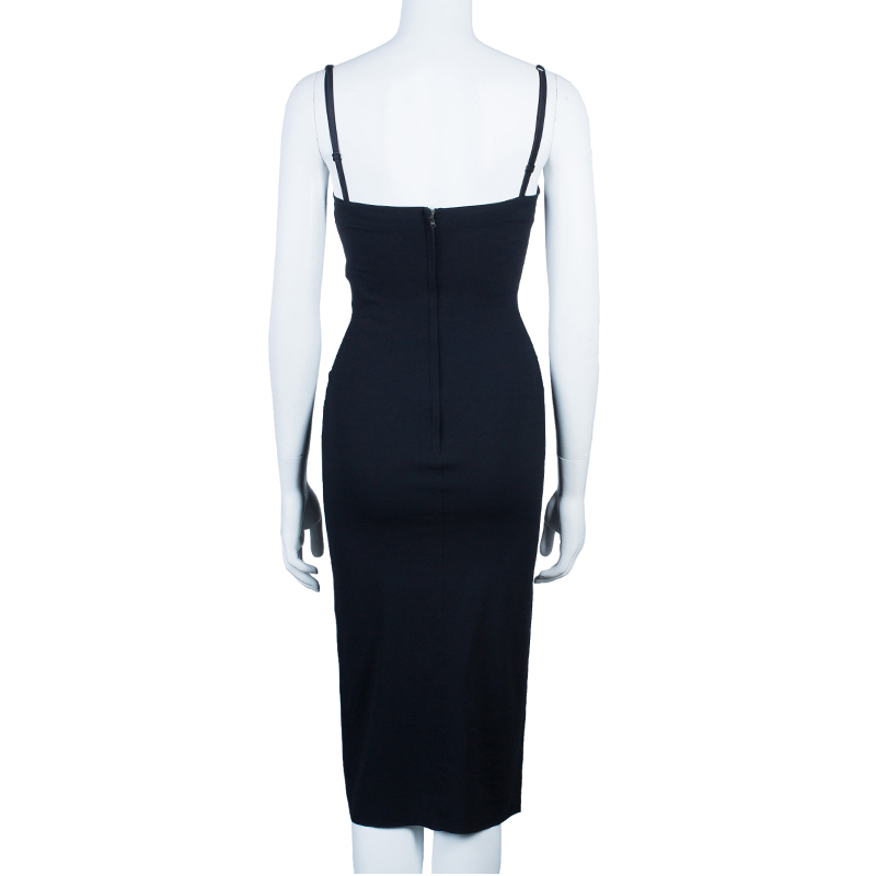Dolce and Gabbana Black Strapless Fitted Dress S