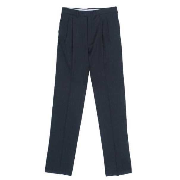 Celine Grey Wool Straight Trousers EU48