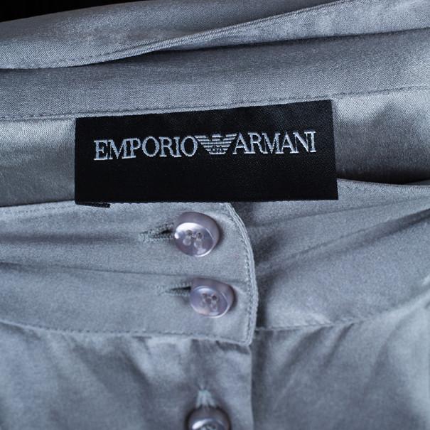 Emporio Armani Grey Silk Shirt L
