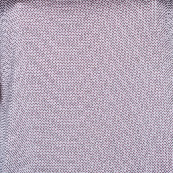 Emporio Armani Polka Dot Printed Silk Top M