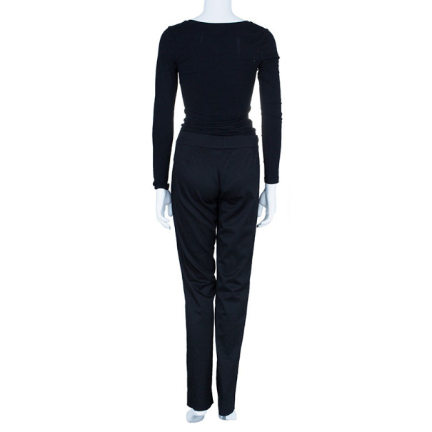 Celine Black Tapered Casual Trousers M