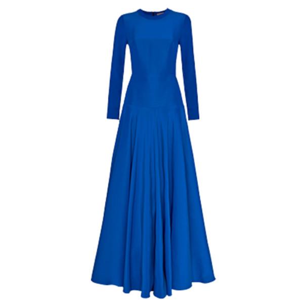 Roksanda Ilincic Laurine Royal Blue Floor-Length Dress L