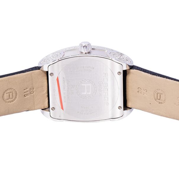 Roberge Black 18K White Gold Paon Women's Wristwatch 36MM