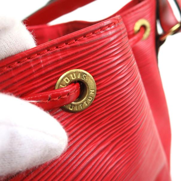 Louis Vuitton Rouge Castilian Epi Leather Petit Noe