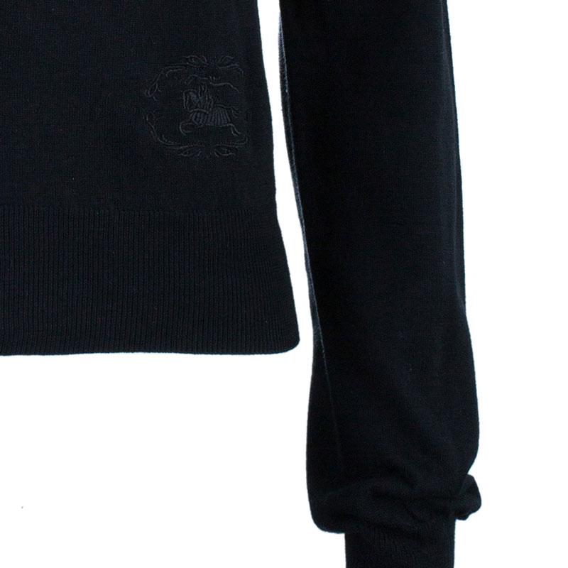 Burberry Black Button Down Cardigan S