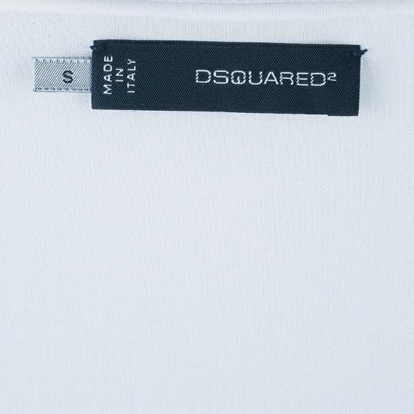 Dsquared2 White V-Neck Top S