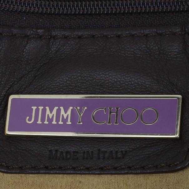Jimmy Choo Chocolate Leather Saba Hobo