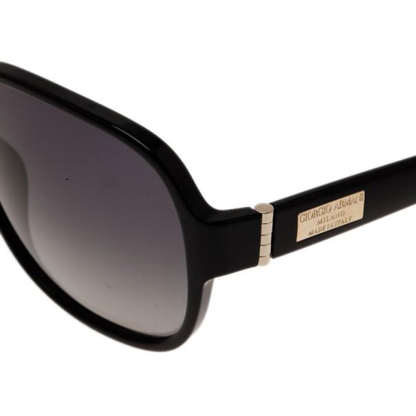 Giorgio Armani Black Oversized Square Sunglasses