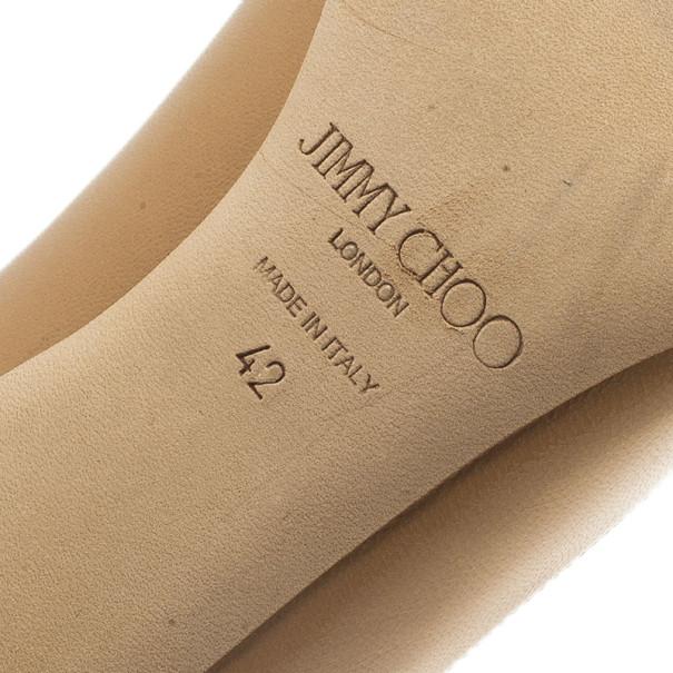 Jimmy Choo Beige Leather Gilbert Pumps Size 42