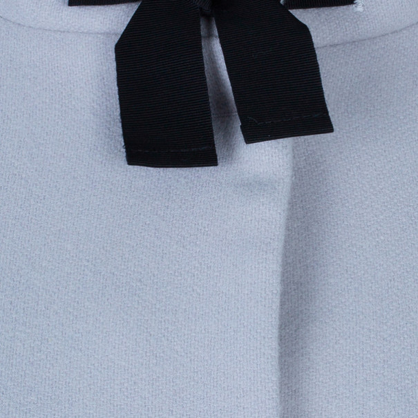 RED Valentino Grey Bow Detail Coat S