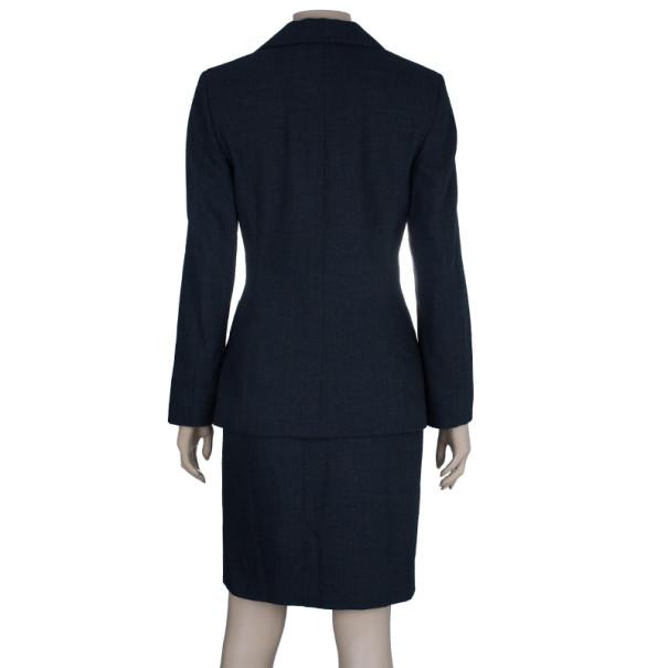 Jil Sander Charcoal Wool Skirt Suit S