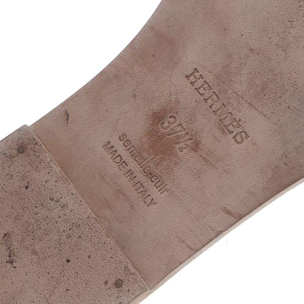 Hermes Python Oran Box Sandals Size 37.5