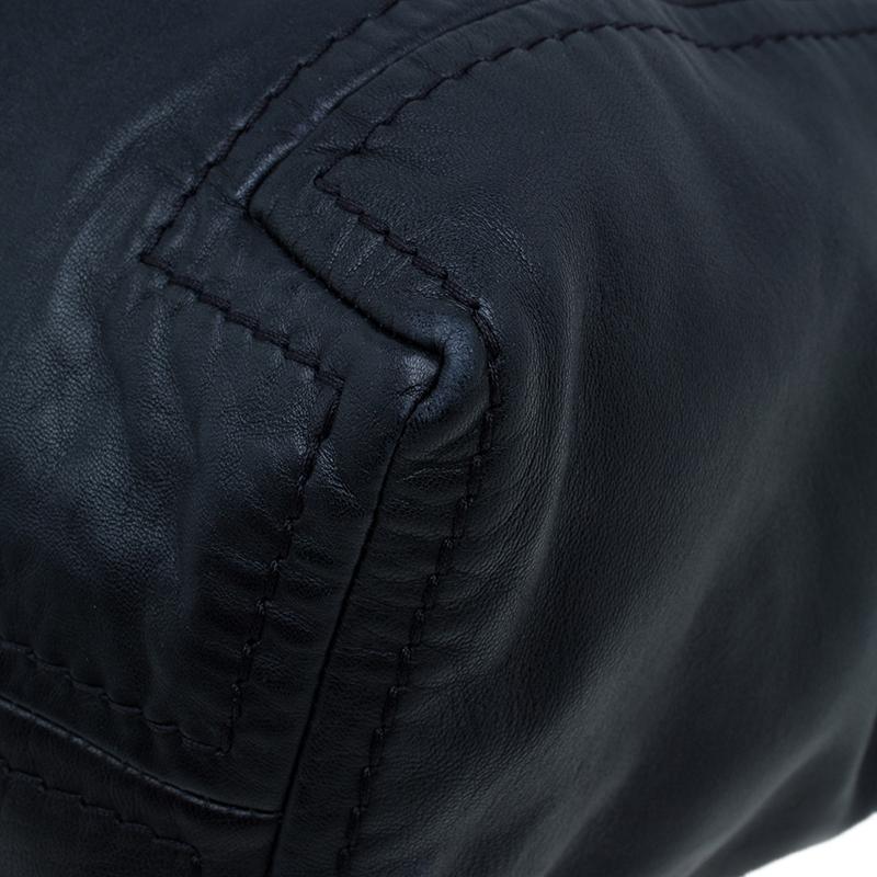 Jimmy Choo Black Leather Medium Saba Hobo
