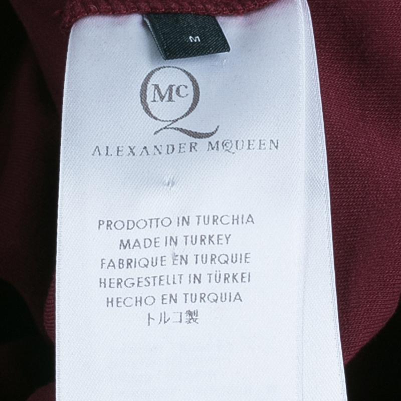 McQ by Alexander McQueen Merlot Zip Detail Dress  M