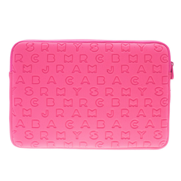 Marc by Marc Jacobs Pink Dreamy Logo Laptop Case