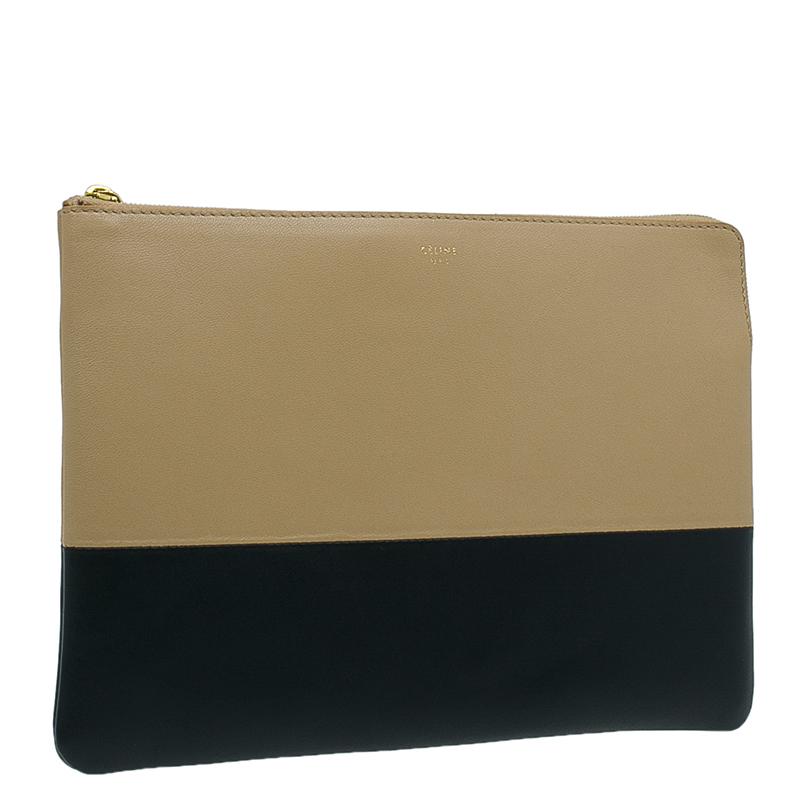 Celine Bi Color Leather Solo Clutch
