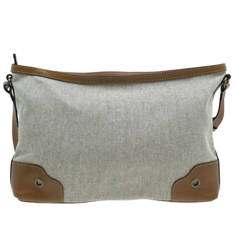 Burberry Brown Canvas Crossbody Bag