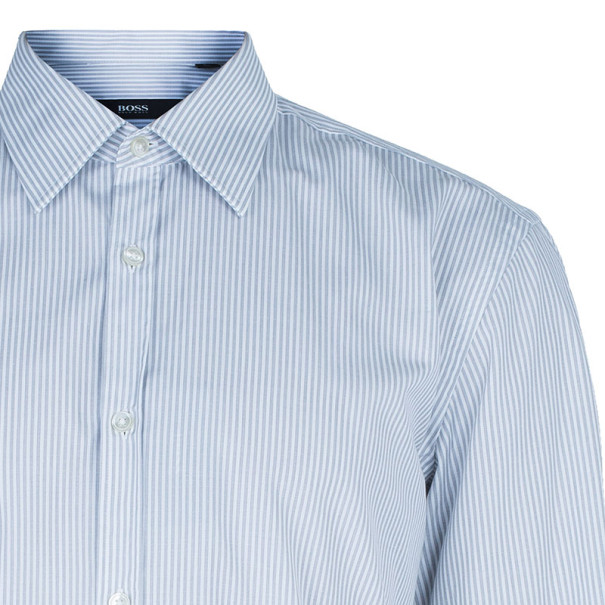 BOSS By Hugo Boss Men's Striped Formal Shirt L