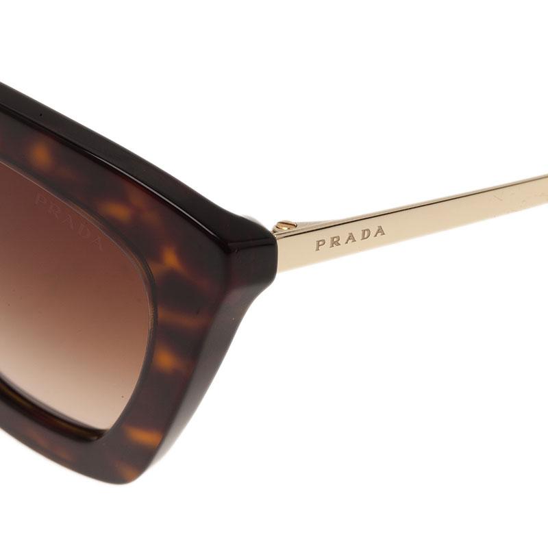 Prada Tortoise Frame Round Sunglasses