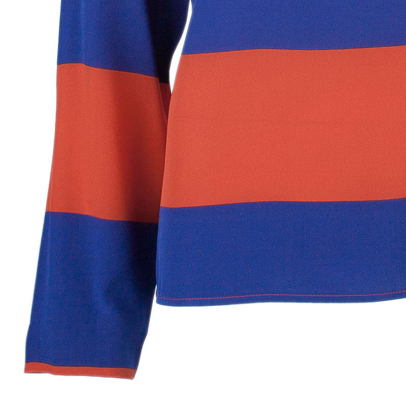 Stella McCartney Blue and Orange Stripped Long Sleeve Top S