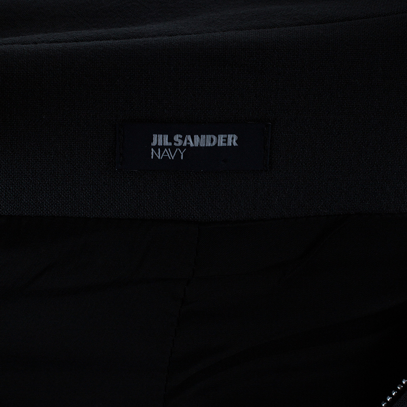 Jil Sander Charcoal Sleeveless Cocoon Coat XS