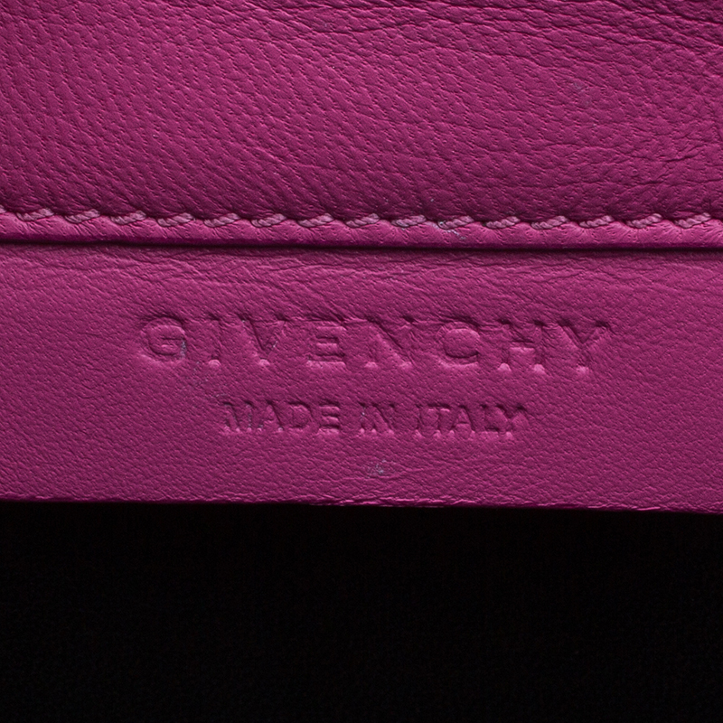 Givenchy Pink Leather Large Shark Tooth Clutch