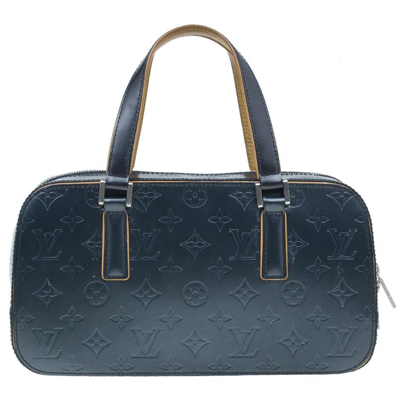 Louis Vuitton Dark Grey Monogram Mat Shelton Satchel Bag