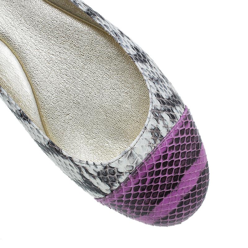 Jimmy Choo Elaphe Whirl Ballet Flats Size 38