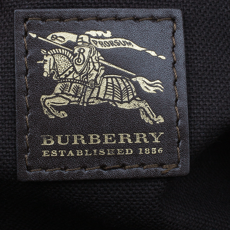 Burberry Brown/Beige Classic Check Tassel Satchel