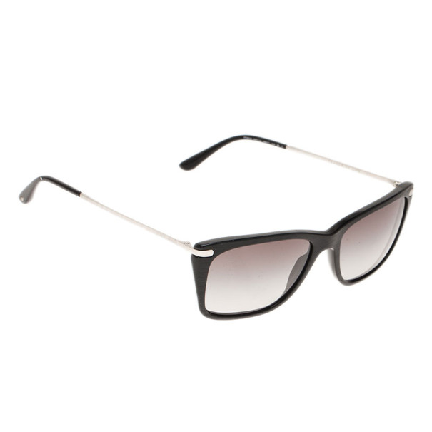 Giorgio Armani Black Rectangle Sunglasses