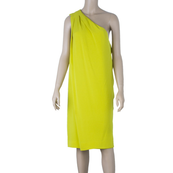 Diane Von Furstenberg New Liluye One Shoulder Silk-crepe Dress M